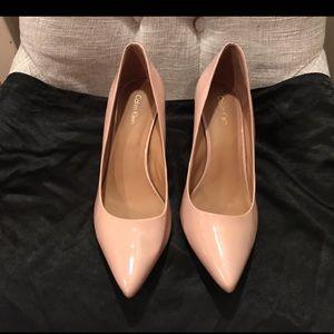 Calvin Klein Gayle High Heels Sheer Satin Patent